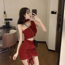 Fashion suit Summer of 2019 Average size Red, black Other / other