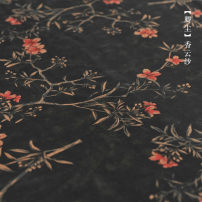 Fabric / fabric / handmade DIY fabric silk 2162# Loose shear piece Plants and flowers printing and dyeing clothing Chinese style