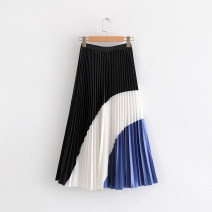 skirt Spring 2021 M, L Picture color Mid length dress commute High waist Pleated skirt Korean version