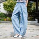 Casual pants Black, gray blue, plain white, bean green, hemp Average size Spring 2020 trousers Knickerbockers High waist commute Thin money 81% (inclusive) - 90% (inclusive) Nianbai Xiufang hemp Retro Make old hemp