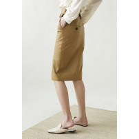 skirt Spring 2021 S,M,L Beige spot, camel spot, coffee spot Mid length dress Versatile High waist skirt Solid color More than 95% Sheepskin Special clothes Sheepskin