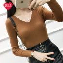 Wool knitwear Winter 2017 One size fits 85-130 Jin Black white Caramel embroidered red dark green flower gray brown Long sleeves singleton  Socket Viscose 31% (inclusive) - 50% (inclusive) Regular routine commute Self cultivation V-neck routine Korean version L1740168 Love Yang Yang