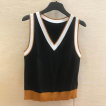 Vest sling Summer 2021 black Two s, three m, four L, five XL singleton  routine Self cultivation Sweet camisole stripe 30-34 years old 30% and below nylon Novel goldette Lace 401g / m ^ 2 (inclusive) - 500g / m ^ 2 (inclusive)