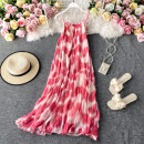 Dress Summer 2020 Pink Average size Mid length dress singleton  Sleeveless commute V-neck High waist Decor Socket A-line skirt other camisole 18-24 years old Type A Korean version 30% and below other other