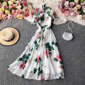 Dress Autumn 2020 white M, L Mid length dress singleton  Long sleeves commute High collar High waist Decor Socket A-line skirt routine Others 18-24 years old Type A Korean version 30% and below other other