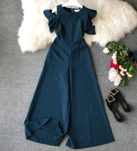Casual pants Black, blue, green, Burgundy, orange Average size Spring of 2019 trousers Jumpsuit High waist commute routine 18-24 years old Korean version pocket Asymmetry
