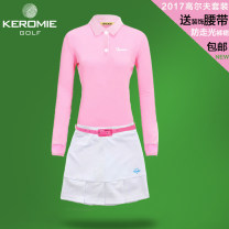 Golf apparel White, pink, yellow, single white skirt, single pink skirt, single yellow skirt, single long sleeve pink, single long sleeve white, single short sleeve white T-shirt, single short sleeve pink T-shirt S,M,L,XL female KEROMIE other