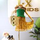 Dress summer Korean version other Pleats Broken flower female Other / other Other 100% Suspender skirt / vest skirt Red ~ skirt does not change, Green ~ skirt does not change 90cm / tag 5, 100cm / tag 7, 110cm / tag 9, 120cm / tag 11, 130cm / tag 13, 140cm / tag 15