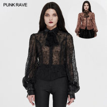 shirt XS,S,M,L,XL,2XL,3XL,4XL Spring 2021 polyester fiber 96% and above Long sleeves Original design Regular square neck Single row multi button routine 25-29 years old Self cultivation PUNK RAVE