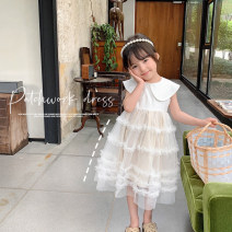 Dress white female mantoumama 80cm hang tag 80, 90cm hang tag 90100cm hang tag 100 sunny yard, 110cm hang tag 110120cm hang tag 120130cm hang tag 130140cm hang tag 140 Other 100% summer Korean version Solid color other other J00004 Chinese Mainland Zhejiang Province