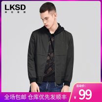 Jacket Laxdn / Lexton Fashion City green 46/S 48/M 50/L 52/XL 54/XXL 56/XXXL thin standard go to work autumn Polyester 100% Long sleeves Wear out stand collar tide routine Zipper placket Rib hem Closing sleeve Solid color Autumn of 2019 Rib bottom pendulum Side seam pocket