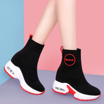 Boots 35 36 37 38 39 34 Ml8411 white black [collection and purchase, priority delivery] ml8411 white red [collection and purchase, priority delivery] ml8411-1 white black (cashmere) ml8411-1 white red (cashmere) cloth Molecole / molecole Middle heel (3-5cm) Muffin bottom Elastic cloth Middle cylinder