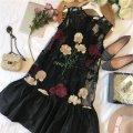Dress Spring of 2019 Black, white S,M,L Short skirt Two piece set Sleeveless commute Crew neck Loose waist Solid color Socket A-line skirt routine Others 25-29 years old Type A lady 81% (inclusive) - 90% (inclusive) other cotton