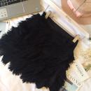 skirt Fall 2017 S,M,L black Short skirt commute High waist Irregular Solid color 25-29 years old 71% (inclusive) - 80% (inclusive) Chiffon cotton Korean version