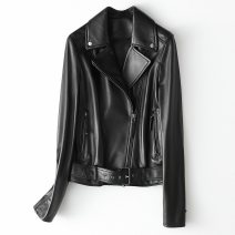 leather clothing Other / other Winter 2020 S,M,L,XL,2XL,3XL black have cash less than that is registered in the accounts Long sleeves Self cultivation street tailored collar zipper routine 3808017-HQ20-YXG1981A Sheepskin rivet