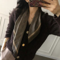 Scarf / silk scarf / Shawl Imitation silk Spring and autumn, summer, winter currency Scarves / scarves multi-function Korean version Small square towel Students, lovers, youth, middle age houndstooth  printing 70cm 70cm