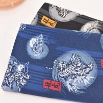 Fabric / fabric / handmade DIY fabric cotton Black width 145cm × half meter, blue width 145cm × half meter Loose shear piece Cartoon animation printing and dyeing clothing Japan and South Korea DIY 100% D05-D2048