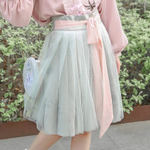 skirt Autumn of 2019 S,M,L Pre sale at regular price Middle-skirt dream Natural waist Umbrella skirt Broken flowers Type A 18-24 years old F19070109 51% (inclusive) - 70% (inclusive) other Elements Sigil / element seal other bow