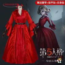 Cosplay men's wear suit goods in stock Other Over 14 years old Dress + coat + bow + belt [tattoo + nail paste], supporting skirt, red lady full set small size [tattoo + nail paste] Animation, film and television 50. M, s, XL, one size fits all, small Chinese Mainland Lady red