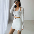 Fashion suit Summer 2021 S, M White, black, light grey 18-25 years old