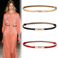 Belt / belt / chain Double skin leather female Waist chain grace Double loop Middle aged youth Double buckle Diamond inlay Patent leather 1cm alloy Ylk / yilako Summer 2021 no