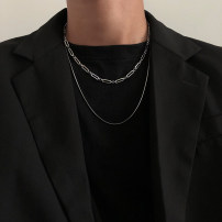 Necklace Titanium steel 51-100 yuan Steel color brand new Original design male goods in stock Fresh out of the oven 51cm (inclusive) - 80cm (inclusive) yes Below 10 cm Snake bone chain