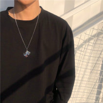 Necklace Titanium steel 51-100 yuan brand new Japan and South Korea lovers goods in stock yes Online gathering features 51cm (inclusive) - 80cm (inclusive) Titanium steel Water wave chain