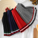 skirt 90cm,100cm,110cm,120cm,130cm,140cm Grey striped pleated skirt, black striped pleated skirt, red striped pleated skirt, Tibetan blue striped pleated skirt Other / other female Cotton 68.6% Cashmere 28.2% polyurethane elastic fiber 3.2% No season skirt Solid color