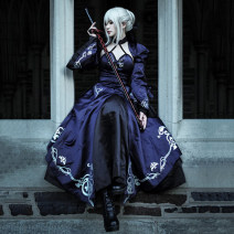Cosplay women's wear suit goods in stock Over 14 years old Skirt suit, wig, hair net, boots (remark shoe size 36-39), sword of oath, skirt + wig + boots + sword (remark shoe size) Animation, games 50. M, s, XL, one size fits all, customized Qmanyuan / qinmanyuan Japan Gothic, fan, otaku, Lolita