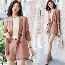 Fashion suit Autumn 2020 S,XL,L,M Pink, yellow, green 25-35 years old Close to each other