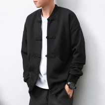 Jacket Other / other Youth fashion black S (recommended below 115 kg), m (recommended 115-130 kg), l (recommended 130-145 kg), XL (recommended 145-160 kg), XXL (recommended 160-180 kg), 3XL (recommended 180-195 kg) routine easy Other leisure autumn Long sleeves Wear out Baseball collar Chinese style