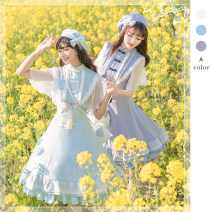 Lolita / soft girl / dress Aixiang Yachuan If grass color, water blue, pure white Spot m (with belt, suitable for s and m), spot L (with belt, suitable for M and L), spot XL (with belt, suitable for L and XL) Summer, spring, spring and autumn