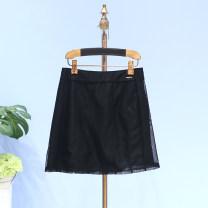 skirt Summer of 2018 XL,L,M,S Black-1 Short skirt Natural waist