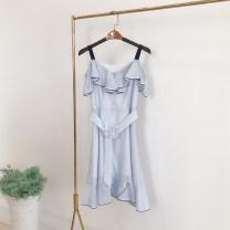 Dress Summer 2020 Blue stripe-1 (with belt), blue stripe-1 (without belt) S,M,L,XL