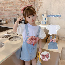 suit Grapefruit rabbit Picture color 90cm,100cm,110cm,120cm,130cm female spring and autumn Korean version other 2 pieces routine There are models in the real shooting Single breasted nothing Solid color Cotton blended fabric Class B Other 100% Chinese Mainland Zhejiang Province Huzhou City