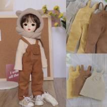 BJD doll zone suit 1/6 Over 3 years old goods in stock Turmeric suspenders, brown suspenders, khaki suspenders, brown suspender skirt, turmeric suspender skirt, khaki suspender skirt Six, big six, four