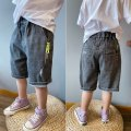 trousers Other / other male Size 110 (recommended height is about 110), 120 (about 120), 130 (about 130), 140 (about 140), 150 (about 150), and 160 (about 160) summer Pant Korean version There are models in the real shooting Jeans Leather belt middle-waisted Cotton denim Don't open the crotch