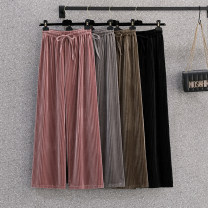 Casual pants Black, gray, khaki, pink Big l [100-120 Jin], big XL [120-135 Jin], big 2XL [135-150 Jin], big 3XL [150-170 Jin], big 4XL [170-195 Jin], big M [80-100 Jin] Summer 2021 shorts Wide leg pants High waist commute Thin money 18-24 years old 96% and above other Korean version cotton Asymmetry