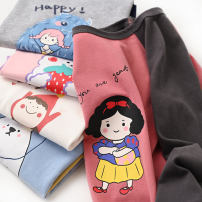 T-shirt 1675 white long sleeves with pink sleeves, 1675 blue long sleeves with yellow sleeves, 1675 pink long sleeves with purple sleeves, 1675 light grey long sleeves with black sleeves, 1675 pink long sleeves with dark grey sleeves Other / other neutral spring and autumn Long sleeves Crew neck