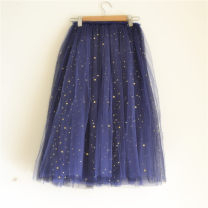 skirt female Cotton 100% No season skirt princess Solid color Splicing style cotton Class B