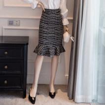 skirt Spring 2020 S,M,L,XL,2XL,3XL,4XL,5XL black Mid length dress gorgeous High waist Ruffle Skirt Zebra pattern Type X 25-29 years old 51% (inclusive) - 70% (inclusive) knitting Viscose printing 401g / m ^ 2 (inclusive) - 500g / m ^ 2 (inclusive)