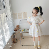 suit Other / other 2-piece suit female summer Korean version Short sleeve + skirt 2 pieces routine There are models in the real shooting Socket nothing flower children birthday Three, four, five, six, seven, eight, nine, ten, eleven, twelve
