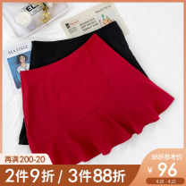 Women's large Summer 2021 Black, red, black pre-sale, red pre-sale Large L, large XL, 2XL, 3XL, 4XL, 5XL skirt singleton  commute easy moderate Solid color Korean version Polyester, others Three dimensional cutting BQ0178 Caidoble / caidoble · CAI 25-29 years old zipper Short skirt Ruffle Skirt
