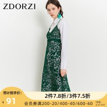 Dress Spring of 2019 Emerald green S M L XL XXL Mid length dress singleton  Sleeveless commute other middle-waisted Socket other other straps 25-29 years old Zdorzi / Zhuo Duozi Korean version More than 95% polyester fiber Polyester 100% Same model in shopping mall (sold online and offline)
