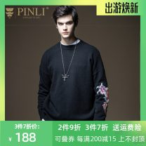 T-shirt / sweater Pinli Fashion City black M170,L175,XL180,XXL185,XXXL190 routine Socket Crew neck Long sleeves B203510674 autumn Straight cylinder 2020 Polyacrylonitrile fiber (acrylic fiber) 47% polyester fiber 30.7% polyamide fiber (nylon fiber) 22.3% leisure time tide youth Animal design