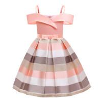 Children's dress female 100cm,110cm,120cm,130cm,140cm,150cm full dress Class B polyester fiber Polyester 65% cotton 35% 2, 3, 4, 5, 6, 7, 8, 9, 10 years old princess