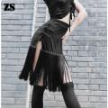 Latin bottom female S, M Black skirt ZS