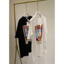 T-shirt White, black Average size Summer of 2019 Short sleeve Crew neck easy Regular routine commute cotton 71% (inclusive) - 85% (inclusive) 18-24 years old Korean version literature Three dimensional decoration