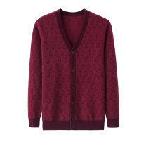 T-shirt / sweater Cashmere Youth fashion Blue red 105 110 115 120 125 thickening Cardigan V-neck Long sleeves 2018-035 winter easy 2018 Wool 60% Cashmere (cashmere) 40% leisure time American leisure old age routine other Autumn of 2018 Coarse wool (8, 6) Cashmere blend Pure e-commerce (online only)