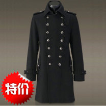 woolen coat Black, army green S,M,L,XL,2XL,3XL,4XL,5XL Others Business gentleman T107 Wool 70% triacetate 30% Woolen cloth have more cash than can be accounted for go to work Self cultivation youth Lapel double-breasted Military brigade of tooling Solid color Straight hem winter wool